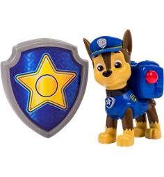 PAW PATROL actionhvalp og badge Chase