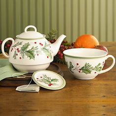 Lenox Holiday Gatherings Stackable Tea Set
