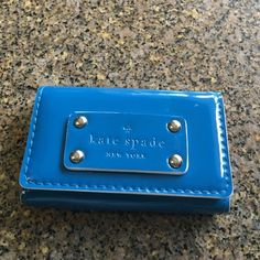 Darling new Kate Spade card holder Your quotes blue never used kate spade Accessories