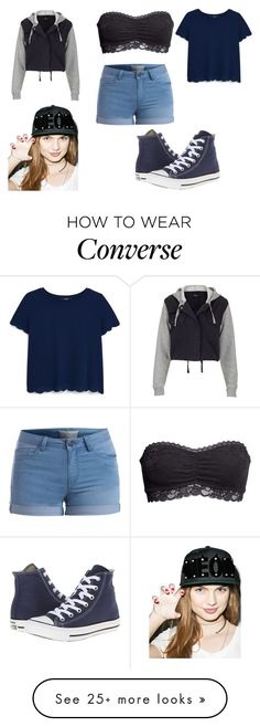 """Untitled #836"" by bubble-843 on Polyvore featuring Topshop, Pieces, H&M, MANGO, Converse and Adeen"
