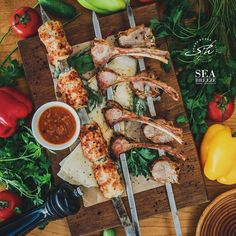 Variety of kebabs cuisine at Shore House #seabreezebaku #beatgroup #nardaran #baku #azerbaijan #absheron #hotel #shorehouse #restaurant #food #cuisine #traditionalcuisine #nationalcuisine #kebabs