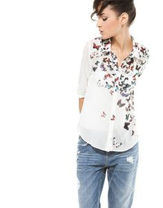 Bershka Croatia -Bershka butterfly print shirt