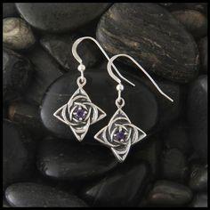 Celtic Star Earrings in Silver