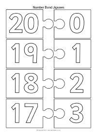 Number Bonds Making 10 Jigsaw Pieces – Black and White Teaching Plan, Teaching Numbers, Math Numbers, Teaching Math, Kindergarten Math, Number Bonds To 20, Number Games, Math Helper, Math Graphic Organizers