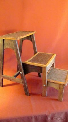 Walnut Finish Step Stools And Solid Wood On Pinterest
