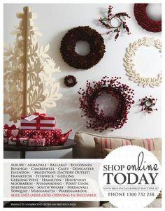 Provincial Home Living Christmas Catalogue 2012 Christmas Wreaths, Xmas, Christmas Catalogs, Work Inspiration, Home And Living, December, Graphic Design, Holiday Decor, Home Decor
