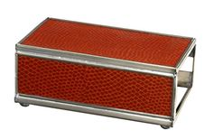 Silver Match Box Frame with Faux Orange Crocodile Sides Stove Accessories, Fireplace Accessories, Camping Accessories, Box Frames, Orange, Crocodile, Camping Gear, Hunting, Larger