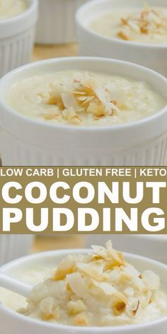In search of a traditional style low carb pudding? You'll love this creamy coconut pudding that's made with coconut milk and cream cheese. // easy low carb sweets // dessert low carb // healthy low ca Desserts Keto, Desserts Sains, Keto Snacks, Dessert Recipes, Pudding Desserts, Breakfast Recipes, Sweet Desserts, Holiday Desserts, Keto Dessert Easy