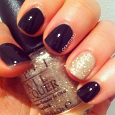 Black + Gold | DIY New Years Eve Nail Art Ideas for Teens