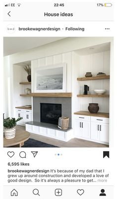 Fireplace Built Ins, Home Fireplace, Living Room With Fireplace, Fireplace Remodel, Fireplace Design, New Living Room, Home And Living, Living Room Decor, Fireplace Modern
