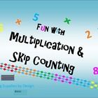 This is a money saving bundle of all of my multiplication and skip counting products. It is priced at a 30% discount, so that's like buy 3 get 1 FR...