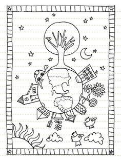 Earth Day Coloring Pages Earth Day Coloring Pages, Colouring Pages, Coloring Books, Painting For Kids, Drawing For Kids, Art For Kids, Camping Coloring Pages, Earth Day Crafts, Earth Day Activities