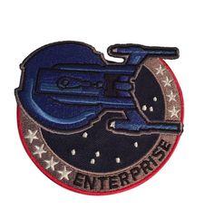 """Star Trek Enterprise Mirror Mirror 8/"""" Tall Embroidered Shoulder Patch"""