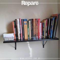 Instalação de prateleiras.  Seus livros em destaque e com organização.