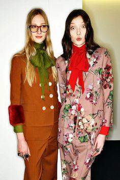 Model Behavior: Milan Backstage | Hint Fashion Magazine Gucci