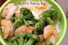 *Riches to Rags* by Dori: Steamed Shrimp and Broccoli with Rice Cooker and Steamer GIVEAWAY! Fish Dishes, Seafood Dishes, Fish And Seafood, Seafood Recipes, Dinner Recipes, Dinner Ideas, I Love Food, Good Food, Yummy Food