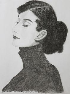 Audrey Hepburn, detail.  2018 Jarmo Leppinen Audrey Hepburn, My Arts, Detail, Artwork, Work Of Art, Auguste Rodin Artwork, Artworks, Illustrators