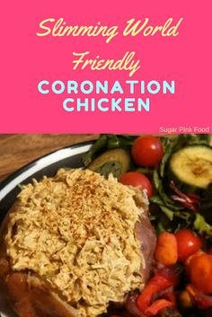 This is a super tasty recipe for a Slimming World Friendly version of the British Classic Coronation Chicken. Perfect for a low syn lunch! Slimming World Coronation Chicken, Coronation Chicken Recipe, Slimming World Salads, Slimming World Beef Recipes, Chicken Recipes For Kids, Healthy Chicken Recipes, Cooking Recipes, Healthy Food, Healthy Eating