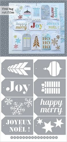 studio & SVG cutting files - By :Mel McCarthy melstampz Silhouette Cutter, Silhouette Machine, Free Silhouette, Silhouette Studio, Silhouette Files, Silhouette Portrait, Illustration Noel, Silhouette Cameo Projects, Christmas Gift Tags