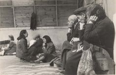 Lodz, Poland, Jews awaiting deportation in a barrack on Krawiecka Street, 1942. They will be sent to a death camp and most selected for gas chambers. The others will die in slave labor, starvation, torture