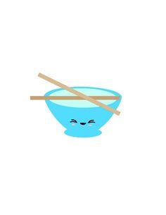 FREE STUDIO SVG rice bowl kawaii chop sticks Closet Crafter: silhouette