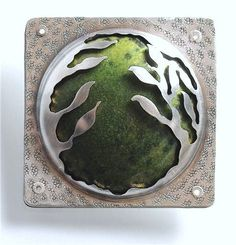 "Enamel combined with more familiar techniques in ""Green"" by UNT grad Umut Demirguc."