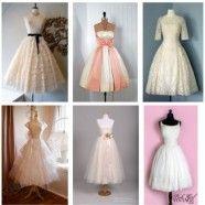 1950 Vintage Wedding Dresses - so fun