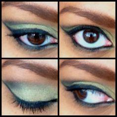 Black  green shephora eyeshadows. hair-makeup-other-ideas