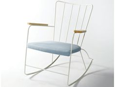 The Race Rocker chair. Designed by Ernest Race in 1948 and relaunched by Race Furniture. Home Furniture, Furniture Design, Home Living Room, Decoration, Contemporary Design, Modern Design, Upholstery, Interior Design, Home Decor