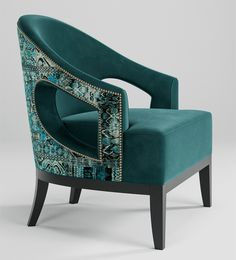 Armchair furniture - With elegant curves and clean cutouts, the Saffron Chair is finelytailored, sophisticated and comfortable Painting Wooden Furniture, Sofa Furniture, Rustic Furniture, Luxury Furniture, Living Room Furniture, Furniture Design, Modern Furniture, Antique Furniture, Outdoor Furniture