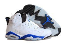 "huge discount d0c48 162f0 Air Jordan 6 (VI) Retro ""Sport Blue"" White Sport Blue-Black"