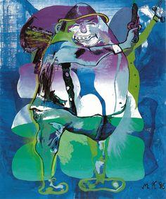 """""""Deutscher Eierknaller"""" (""""German Egg-Banger""""; 1996), by Martin Kippenberger. Oil on canvas."""
