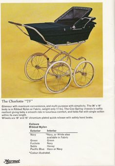 Prams Perfect Prams was devised to identify and list vintage prams used over the past 120 years. Please go to the Albums page to discover the make and possibly the model of your coachbuilt pram. Vintage Pram, Retro Vintage, Maclaren Pushchair, Prams And Pushchairs, Baby Buggy, Baby Prams, Baby Carriage, Gothic Steampunk, Reborn Babies