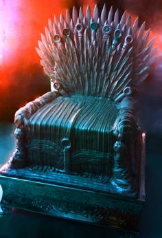 - Iron Throne Cake from The Game of Thrones. ~vighvacious     This one blows that other Iron Throne Cake picture I keep seeing out of the park!!