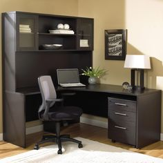 100 Office System Corner Desk With Hutch by Jesper