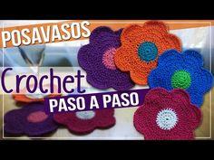 Posavasos En Crochet o Ganchillo - Tejido Paso A Paso - YouTube