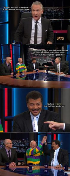 hahaha, Neil deGrasse Tyson and James Carville rule