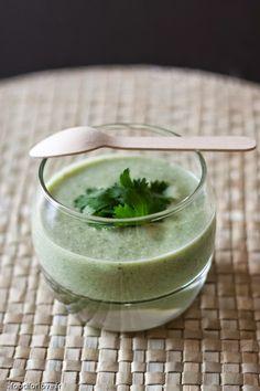SANS GLUTEN SANS LACTOSE: Soupe de concombre au lait de coco sans gluten et sans lactose