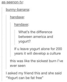 what's the difference between yogurt and America?