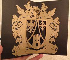 Crest pop-up card