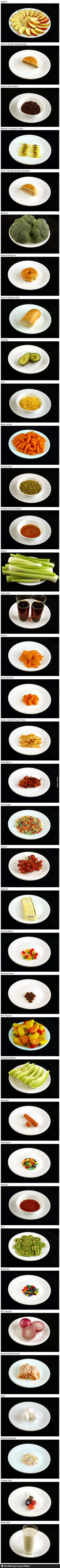 What 200 calories looks like in various foods