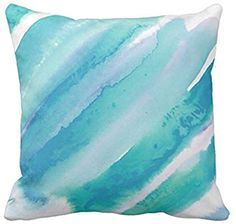 Emvency Throw Pillow Cover Chic Teal