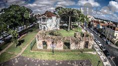 Ruínas de São Francisco no Largo da Ordem -  Foto: Curitiba NoAr - Vídeos e Fotos de Curitiba sob um novo ângulo