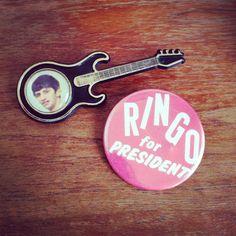 Vintage Ringo Starr Pins