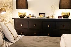 Ikea dresser with new gold hardware