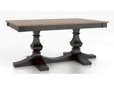 Canadel Rectangular Table with Pedestal TRE4268TP-F