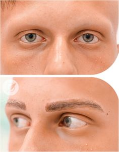 Post Microblading 7 Scalp Tattoo, Tattoo Salon, Permanent Eyebrows, Permanent Makeup, Male Makeup, Makeup Tips, Brow Blading, Eyebrow Before And After, Guys Eyebrows