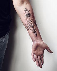 #tattoo #ink #blacktattoo #linework #dotwork #constellation #capricorn #myforestink