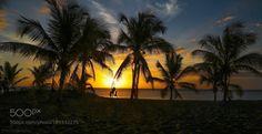 Reunion sunset! by patthom974  sky sunrise sea sunset water beach travel blue sun light clouds ocean summer sand Reunion sunset! pa