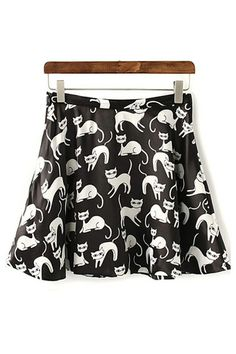 I could be the cat's meow with this skirt...or a crazy cat lady. Probably the second one.
